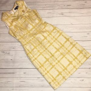 Tahari Arthur S. Levine Yellow Sleeveless Dress